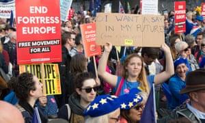 People's vote demonstration in London