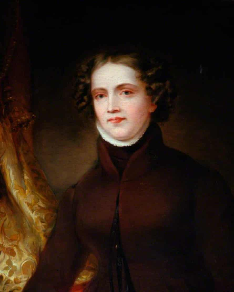 Detail from a portrait of Anne Lister by Joshua Horner, circa 1830. The portrait is on display at Shibden Hall.