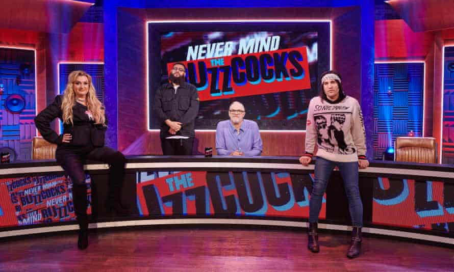 Daisy May Cooper, Jamali Maddix, Greg Davies and Noel Fielding in Never Mind the Buzzcocks