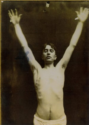 Harry Clarke, posing for crucifixion in the mid-1920s.