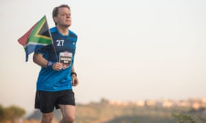 Eddie Izzard during marathon number 10 in his gruelling Sport Relief challenge.