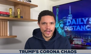 """Trevor Noah: """"While most administrations would be galvanized by an external threat, this White House seems to think of chaos as an essential service that they need to keep providing."""""""