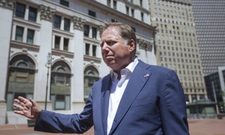 Geoffrey Berman, the United States attorney for the southern district of New York, arrives to his office in New York on Saturday.