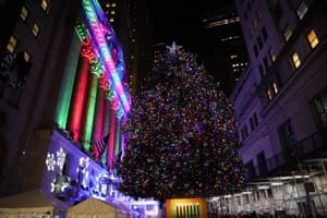 The Christmas Tree outside the New York Stock Exchange.