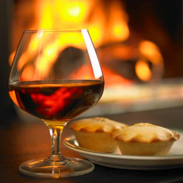 Brandy and mince pies by the fire …