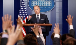 During a press briefing on 30 May, Sean Spicer said the White House focus was on 'the president's agenda'.