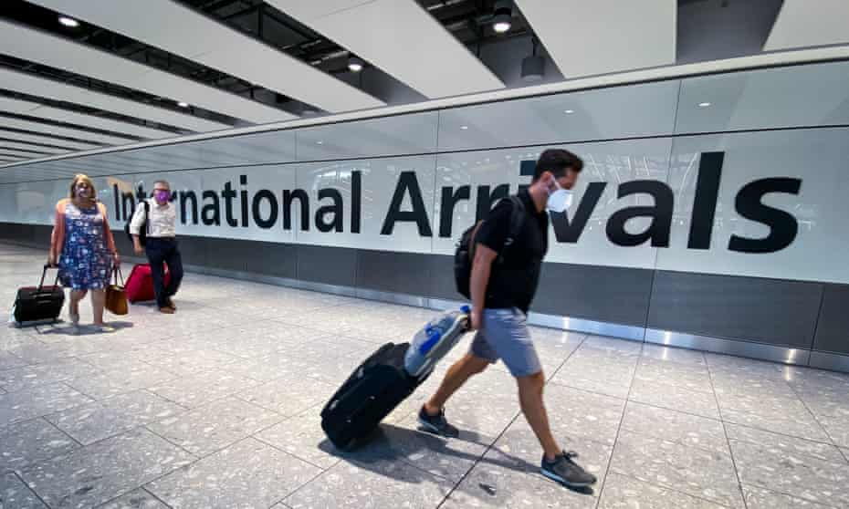 Passengers in the arrivals hall at Heathrow Airport, London, after a flight from Croatia landed on Saturday.