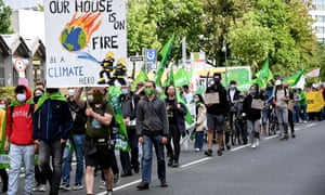 A climate protest in Duesseldorf, Germany, last week