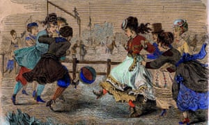 The Girls of the Period Playing Ball, watercolour from 1869 Harper's Bazaar magazine and the oldest item in the collection.