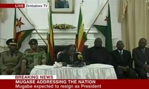Robert Mugabe live on ZBC