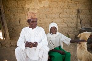 Simon Shauabi and his seven-year-old granddaughter Dorcas