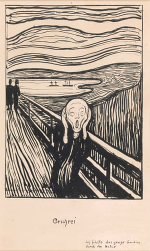 The 1895 lithograph of The Scream.