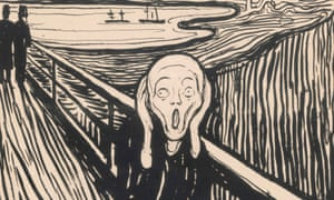 Know the feeling? Edvard Munch's The Scream (detail). Photograph: Thomas Widerberg/Courtesy British Museum