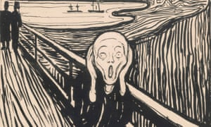 Universal figure of the modern soul … detail of The Scream by Edvard Munch. Click here to see full image.