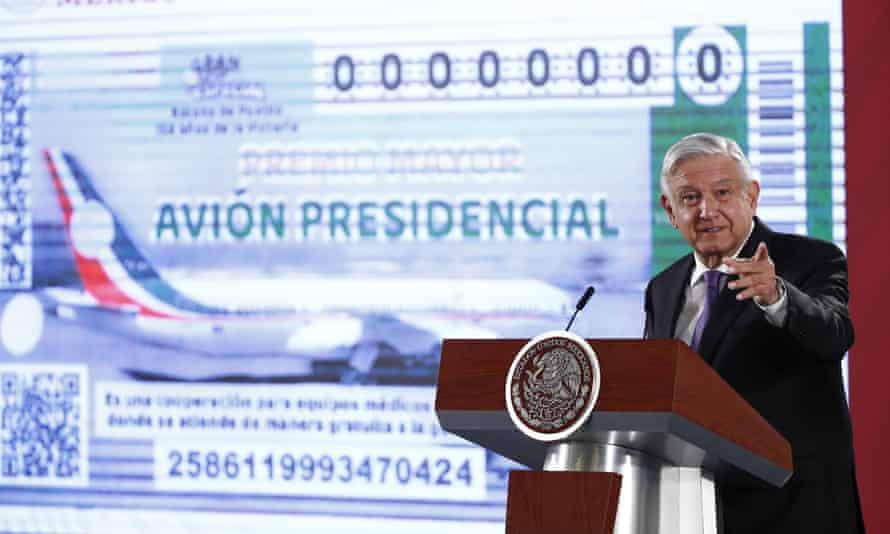 President Amlo said last month he was considering raffling off the jet by selling 6m lottery tickets at about $25 apiece.