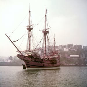 Mayflower II, on which Adrian Small took part in the 1957 replication of the pilgrims' journey from Plymouth, Devon, to Plymouth, Massachusetts, in 1620.