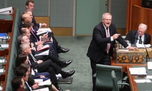 Scott Morrison during question time on Wednesday.