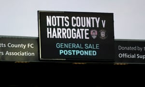 Fixtures in all three divisions of the National League have been suspended indefinitely.
