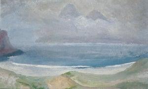 Winifred Nicholson's Sound of Rhum, from Bay of Laig, Isla of Eigg (The Singing Sands).