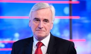 Shadow chancellor John McDonnell speaking on ITV's Peston