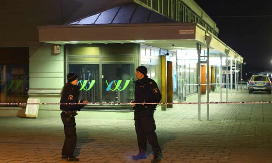 The restaurant in Gothenburg where several people were killed in a shooting.