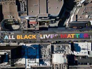 All black lives matter slogan