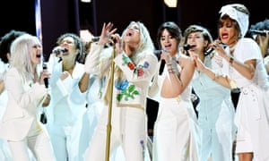 Kesha and friends perform at the 2018 Grammys