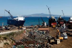 Ship-breaking yards in the Turkish port city of Aliaga.