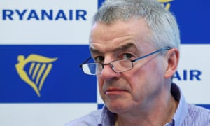 Ryanair chief, Michael O'Leary. His company describes crew demands strike as 'pointless'.