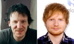 Ends of the scale … Elliott Smith and Ed Sheeran.