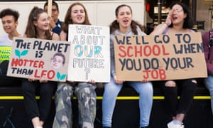 Teenage girls at a Youth Strike 4 Climate Change march in London in September.