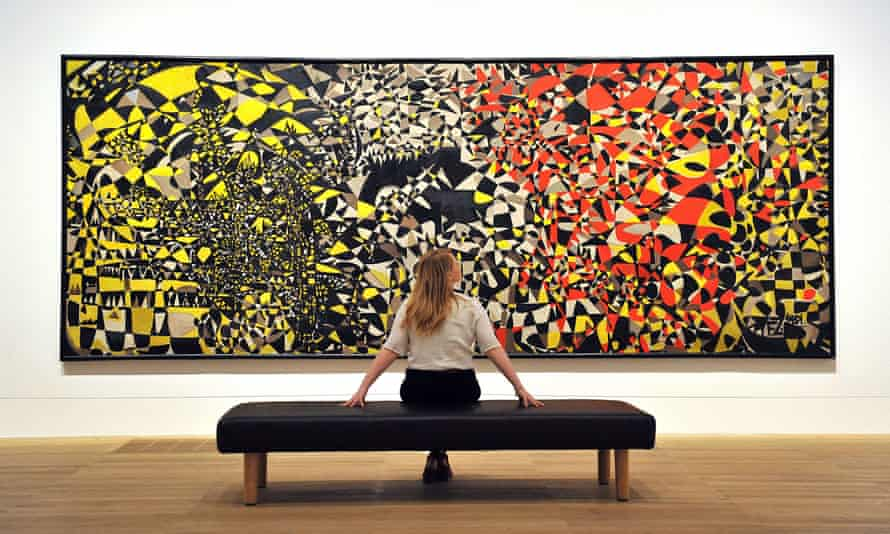 Fahrelnissa Zeid's five-metre canvas