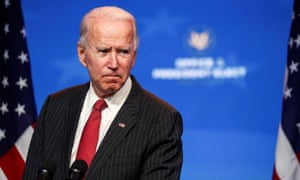 President-elect Joe Biden speaks after meeting with governors in Wilmington, Delaware, on 19 November.