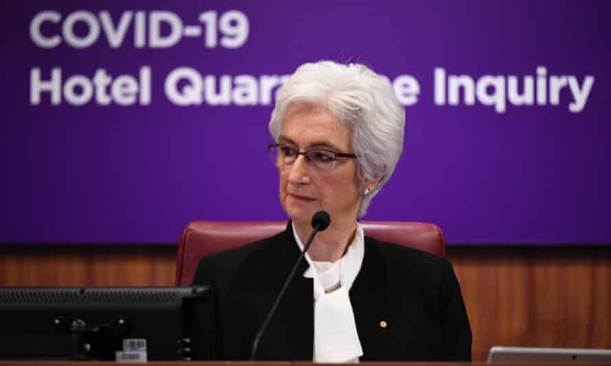 Jennifer Coate at the Victorian hotel quarantine inquiry