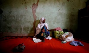 """Adama Mustapha, the mother of Salamutu, Fatima and Maryam, missing students of the Government Girls Science and Technical College in Dapchi, the northeastern state of Yobe, Nigeria, February 24, 2018. REUTERS/Afolabi Sotunde SEARCH """"DAPCHI PARENTS"""" FOR THIS STORY. SEARCH """"WIDER IMAGE"""" FOR ALL STORIES. TPX IMAGES OF THE DAY"""