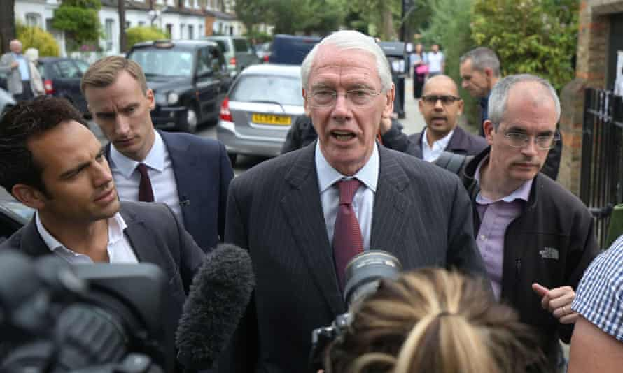 Sir Martin Moore-Bick, who will lead the Grenfell Tower fire public inquiry, speaks to the media at St Clement's church