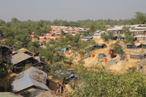General view of Kutupalong refugee camp.