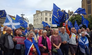 The event organised by the People's Vote group was attended by about 1,000 people.
