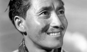 A portrait of Tenzing Norgay (better known as Sherpa Tensing).