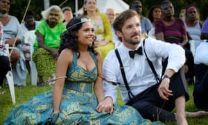 Miranda Tapsell and Gwilym Lee in Top End Wedding