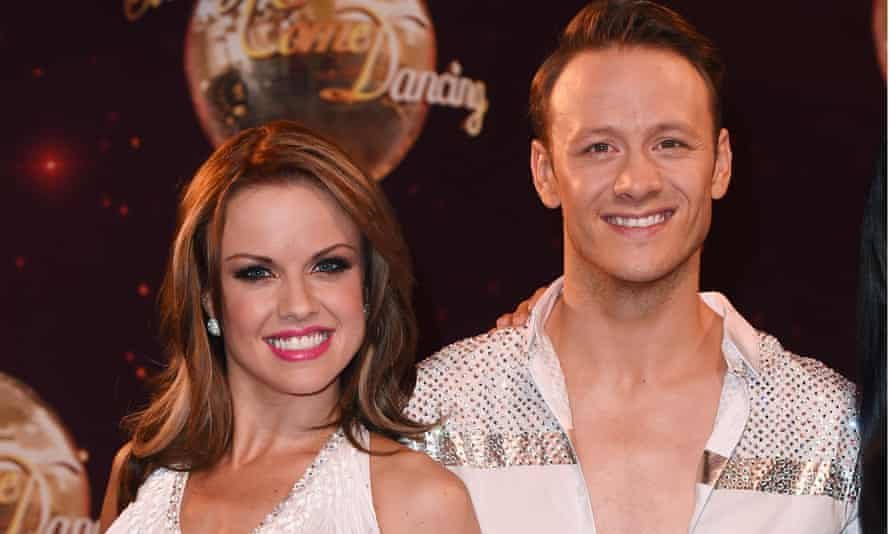 With Joanne in 2014 at the launch of that year's Strictly.