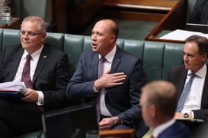 Immigration minister Peter Dutton during question time.