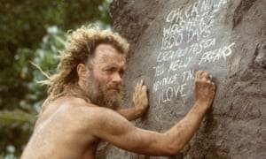 Tom Hanks in Cast Away.