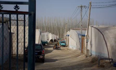 Images of a camp in Xinjiang, China