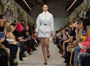 New York: Bella Hadid walks the runway in the Brandon Maxwell show during fashion week