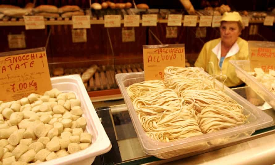 Pasta stall in Italy