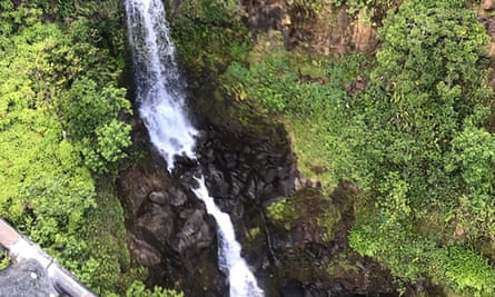 A waterfall in the area where Amanda Eller was found.