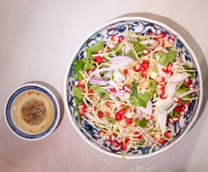'Sprightly': peanut and noodle salad.