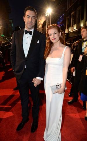 In da house Sacha Baron Cohen and Isla Fisher.