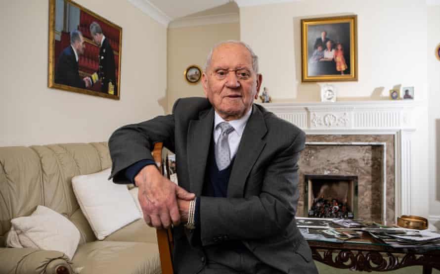 Arek Hersh, Holocaust survivor, photographed at his home near Leeds